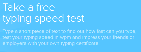 Example of a text block on www.ratatype.com-typing-test