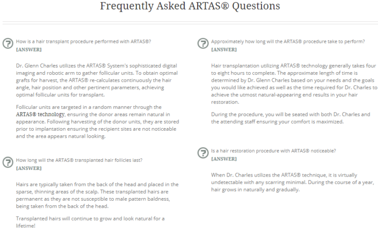 Frequently Asked Questions screenshot