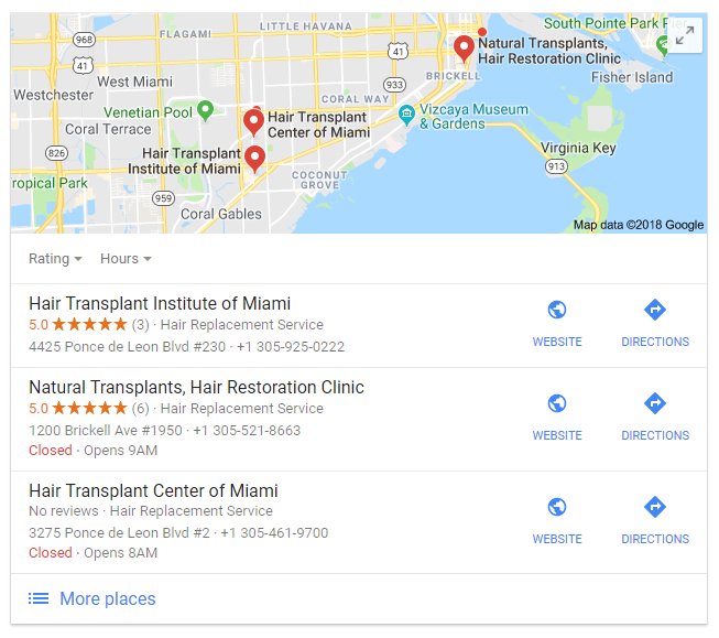 Google adds ablock with Google Maps into search results