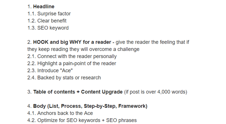 Example template for content article