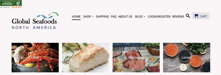 Screenshot ofthe homepage