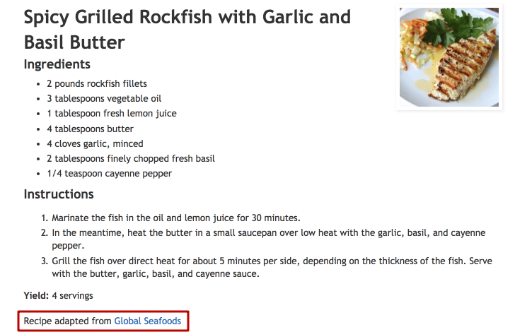 Spicy Grilled Rockfish recipe