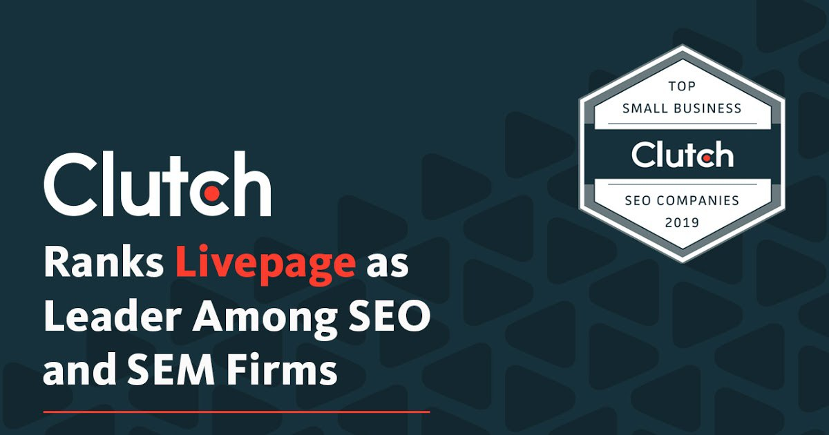 Livepage - top-10 among SEO and SEM agencies according to Clutch.co rating