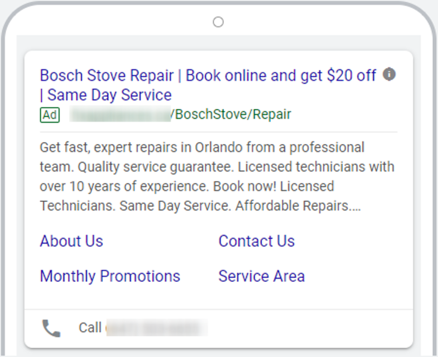 paid media for appliance repair company