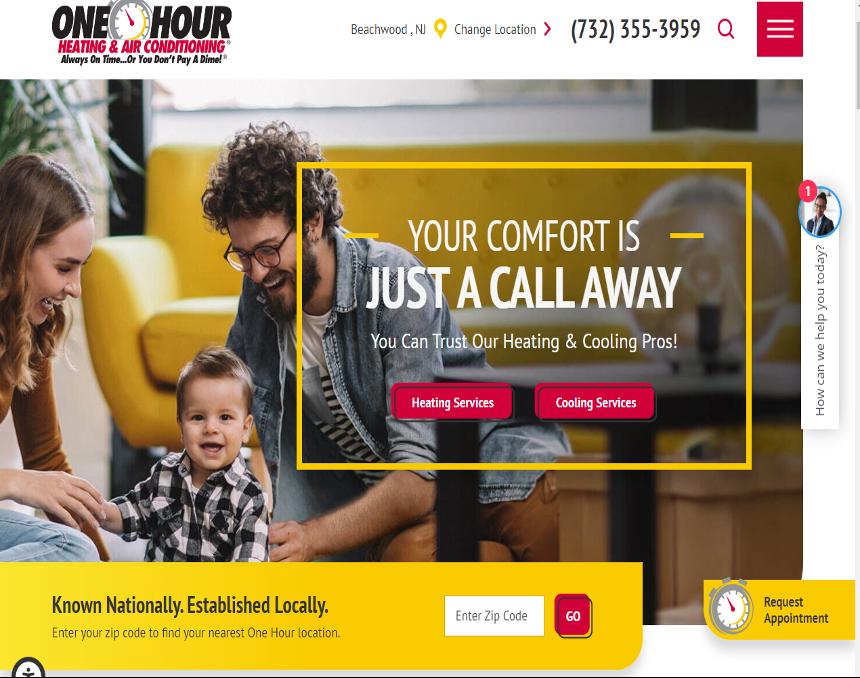 Website development for HVAC business